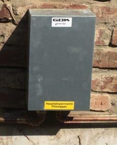Blech Hausanschlusskasten Flüssiggasanlage oberirdisch