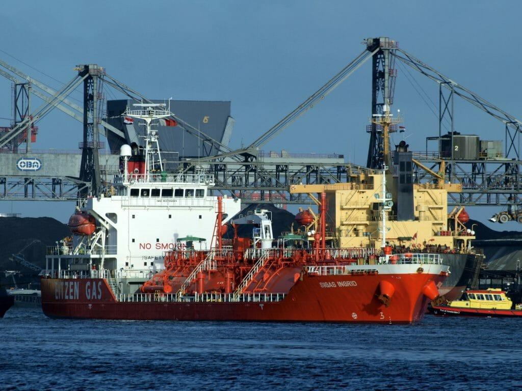 Flüssiggas Transportschiff