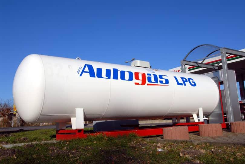 Gastank für Autogas LGP