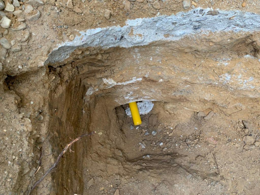 Flüssiggasanlage Gasleitung im Schutzrohr