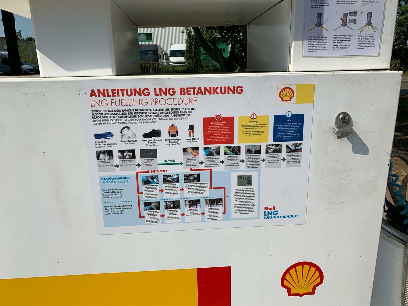 LNG Tankstelle Anleitung